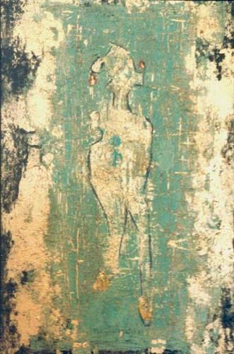 Fotograf: Eget fotoVærk  titel: Uden titel Værk  type: Maleri Materiale: Acryl på masonit Størrelse: 30 x 20 cm Færdiggjort: 1999