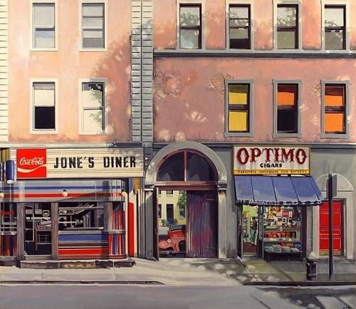 Fotograf: Eget fotoVærk  titel: Jone´s Diner Værk  type: Maleri Materiale: Acryl på lærred Størrelse: 130 x 150 cm. Færdiggjort: 1998