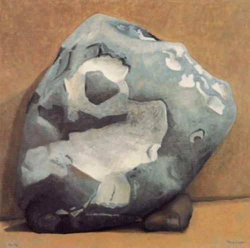 Fotograf: Eget fotoVærk  titel: Fugl i sten Værk  type: Maleri Materiale: Olie på lærred Størrelse: 130 x 130 cm Færdiggjort: 1998
