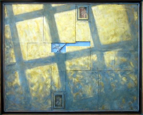 Værk  titel: Åndehul Værk  type: Maleri Materiale: Olie på lærred Størrelse: 120 x 100 cm Færdiggjort: 2004