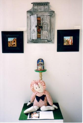 Fotograf: Eget fotoVærk  titel: 3 danske helgenbilleder, 1 triptykon Værk  type: Maleri Materiale: Olie på kridt, træ Færdiggjort: 2004 Placering: Hos kunstneren   Øvrigt: Pris: Aftale med kunstneren