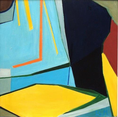 70 x 70 Komposition m. gult