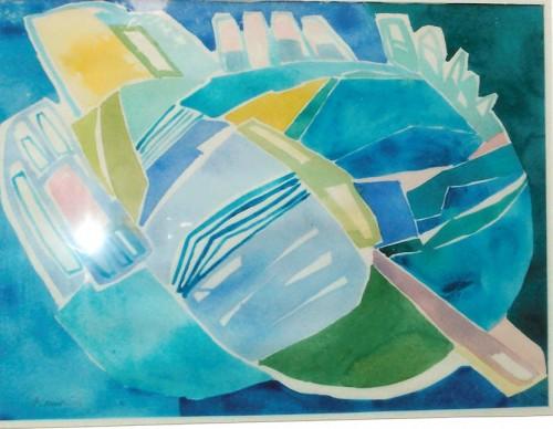 Akvarel.63 x 77 cm.3.500 kr.