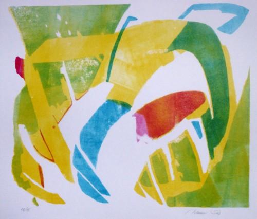Lithografi.58 x 62 cm.1.500 kr.