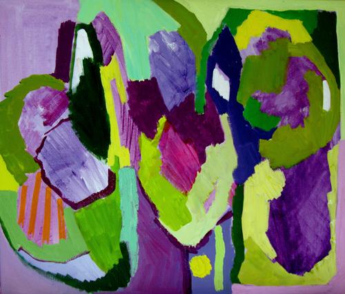 Akrylmaleri 56 x 66 cm. 5.000 kr.